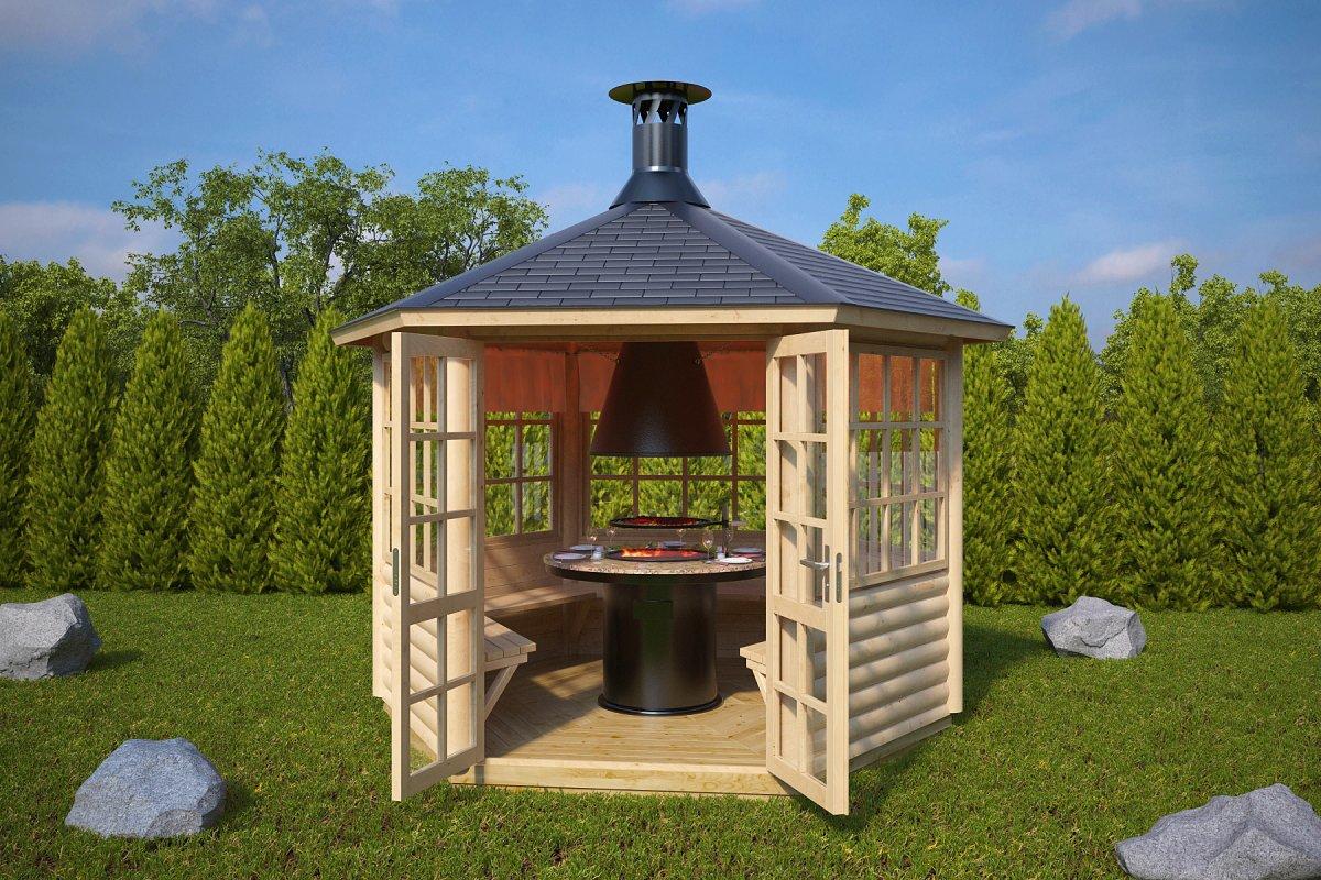 grillstuga seattle s 6m 3 x 3m 55mm attefallshuset 24. Black Bedroom Furniture Sets. Home Design Ideas