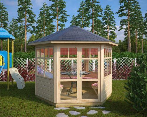 Hexagonal Summerhouse Paradise