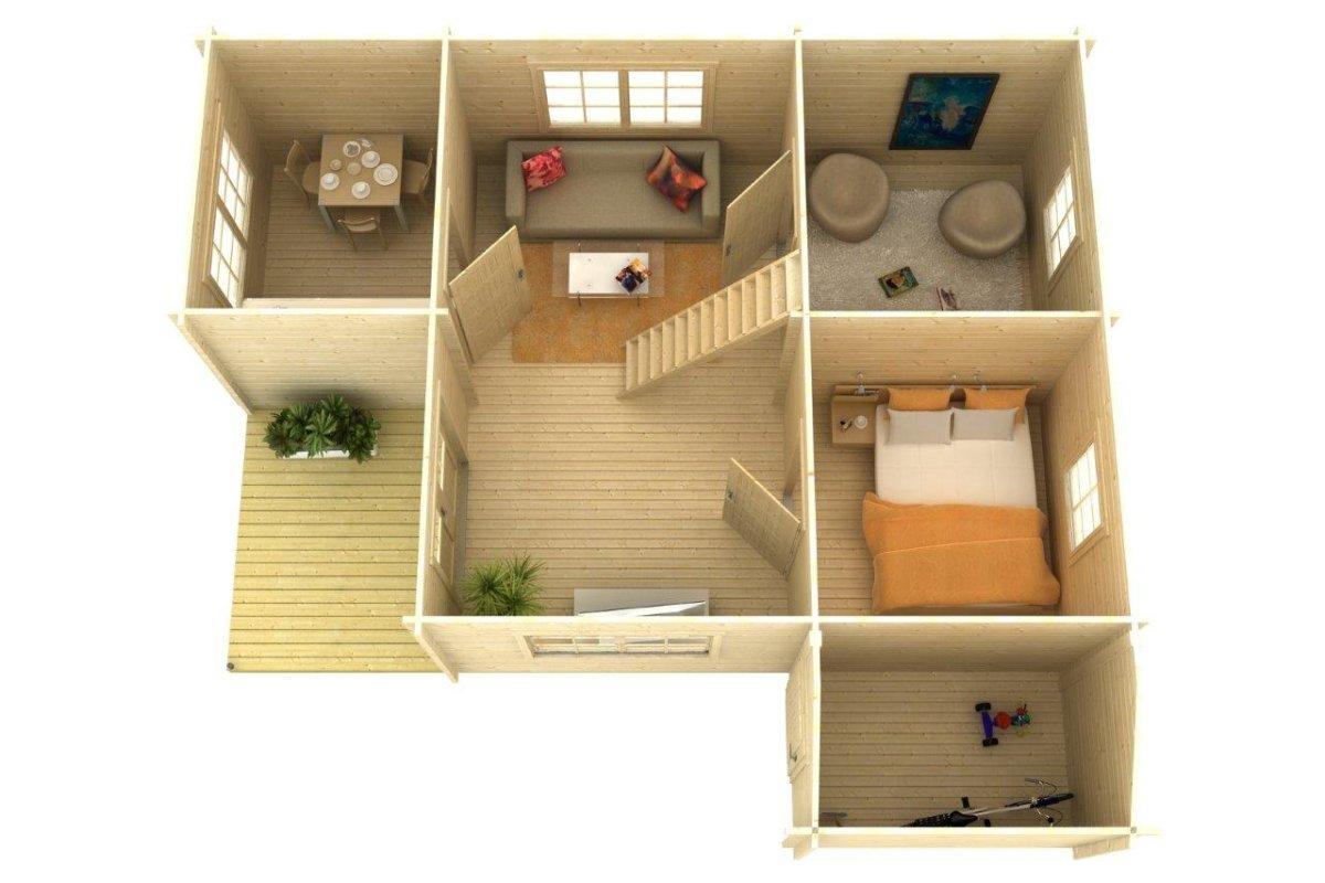 Fritidshus med loft stockholm c 35m 7 x 8 m 58mm attefallshuset 24 - Gartenhaus stockholm ...