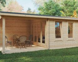 Sommarhus Nora E med veranda 9m² / 3 x 6 m / 44mm
