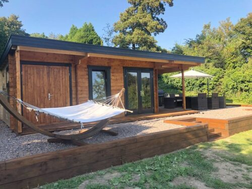 En kunds egna bilder på vår Garden House Hansa Lounge XXL med förråd och terrass