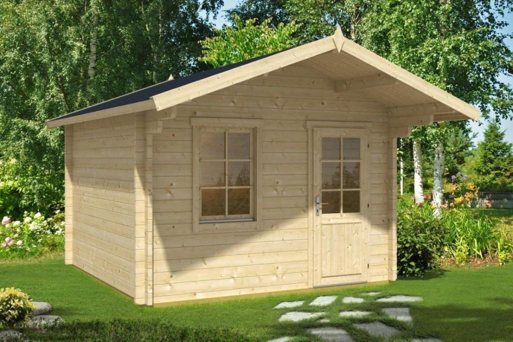 friggebod oslo a 10m 3 x 3 m 44mm attefallshuset 24. Black Bedroom Furniture Sets. Home Design Ideas