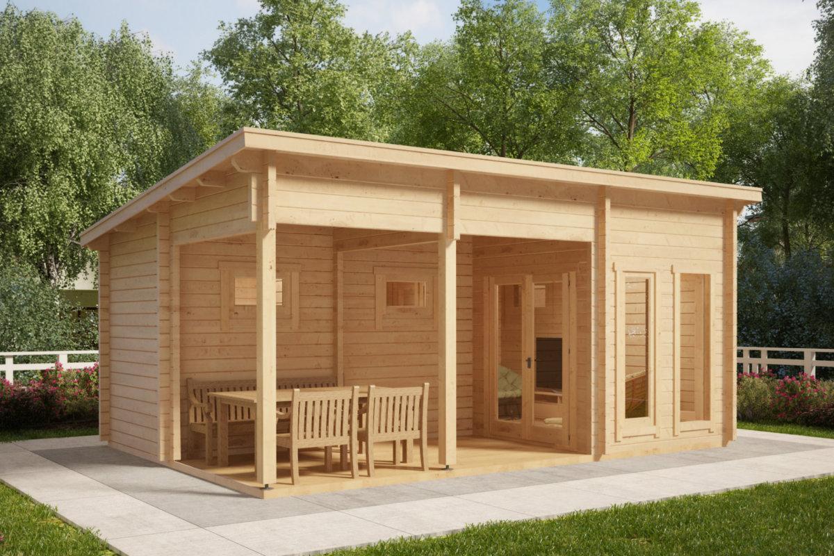 bastuhus oliver i 15m2 70mm 6 x 4 m attefallshuset 24. Black Bedroom Furniture Sets. Home Design Ideas