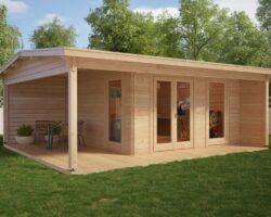 Timmerstuga med veranda Garden Studio XL