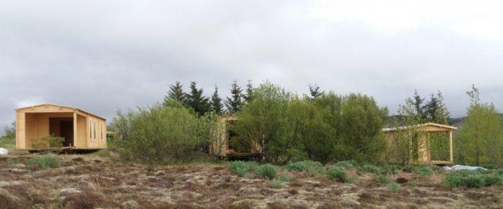 Här kan ni se våra stugor i en stugby på Island