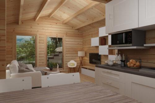 Attefallshus med badrum – Sverige A