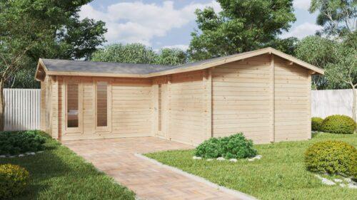 Stor trädgårdstuga med bastu Devon-3 / 40 m2 / 70mm