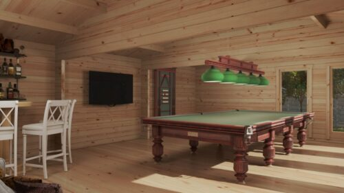 Stort Trädgårdshus Snooker Rum XL II / 8 x 5,5 m / 43 m2 / 70 mm