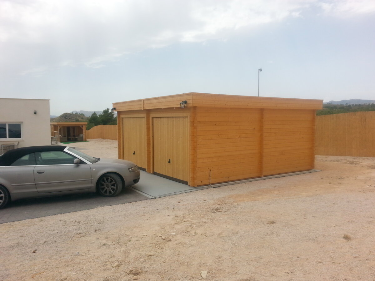 Dubbelgarage F med Vipport 31m² / 5,7 x 5,5 m / 44mm