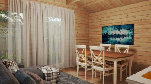 Fritidshus med ett sovrum Holiday M / 8 x 4 m / 30 kvm / 70 mm