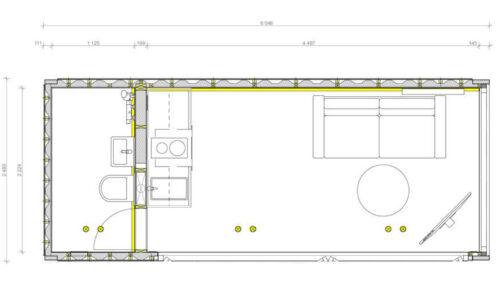 Tiny house floorplan