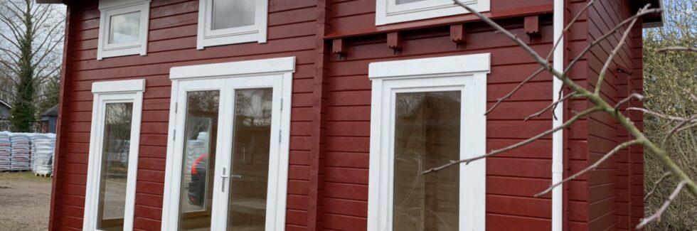 Attefallshus med sovloft Sverige B, från början till slut.