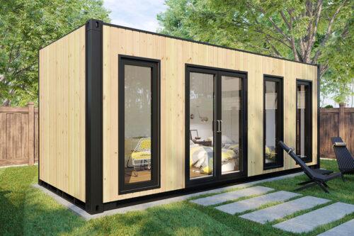 Ombyggd havscontainer trädgårdrum V-4