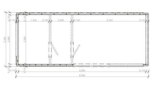 Containerhus med bastu V6 bottenvåning