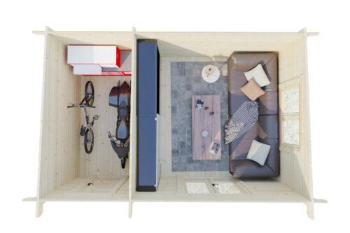 Attefallshus med förråd Super Tom DS bottenvåning