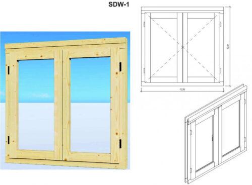Attefallshus med förråd Super Tom DS fönster